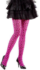 Leopard Strumpfhose pink 40 den NEU - Zubehör Accessoire Karneval Fasching