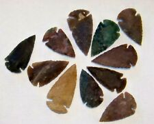 """25 HAND KNAPPED  AGATE ARROWHEAD   1 3/4"""" - 2 1/2"""" (NEW GREAT SIZE)"""
