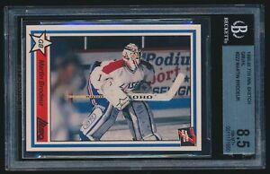 1990-91 7th Inning Sketch QMJHL rookie #222 Martin Brodeur rc BGS 8.5