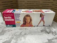 Vintage Denise Austin AEROBIC GLIDESLIDE Lateral Body Leaner With Booties