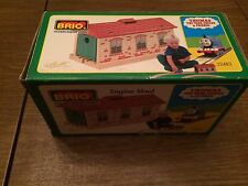 BRIO 32482 Engine Shed for the Thomas Wooden Railway System New in Box!