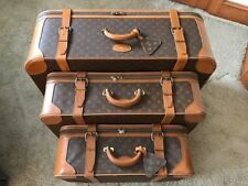 LOUIS VUITTON Vintage Set of 3 Luggage Case Suitecase Travel Bag