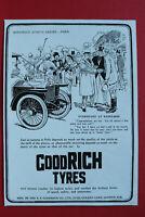 WL1e) Werbung B.F.Goodrich Co 1913 Tyres Reifen London England UK Grafik