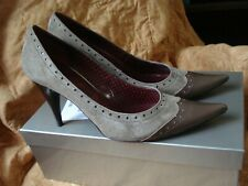 Designer CHOCOLA Stiletto Heel Shoes Mocha Brown Suede & Patent ~Size 6~ Perfect