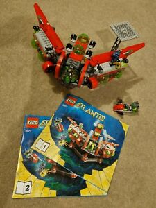 Lego 8077 Atlantis Exploration HQ Complete set with Instructions and Minifigures