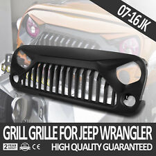 Front Grille Matte Black New Angry Bird Upgrades Fit For Jeep 07-18 JK Wrangler