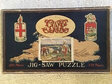 Vintage GWR Chad Valley Wooden Jigsaw The Vikings Landing at St. Ives COMPLETE