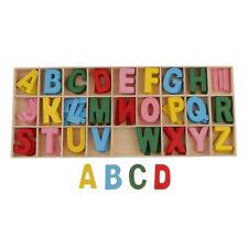 Blesiya 100x Coloredl Wooden Letters Flatback Embellishments Crafts Kids Toy