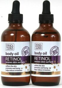 2 Count Dead Sea Collection 4 Oz Retinol Softening Promotes Well Being Body Oil