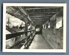 Suisse, Morat (Murten), Les Remparts intérieurs  Vintage silver print. Switzerla