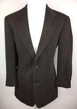 Hugo Boss Wool Galilei Blazer Sport Coat Black Brown Herringbone Mens 40R