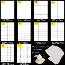 New ListingOffice School Supplies A4 Tag White Stickers Self Adhesive Sticky Package Label