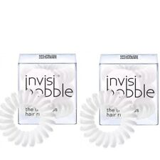 INVISIBOBBLE ORIGINAL The Traceless Hair Ring WHITE 3 PACK ~ LOT OF 2 (6 Total)