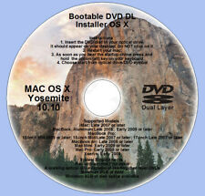 DVD Dual Layer, Mac OS X 10.10 Yosemite Full OS Install, Recovery and Upgrade