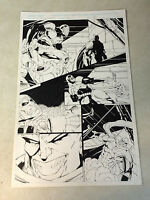 STORMWATCH #22 pg 15 original art, AWESOME BATTLE PAGE, IMAGE, 1995