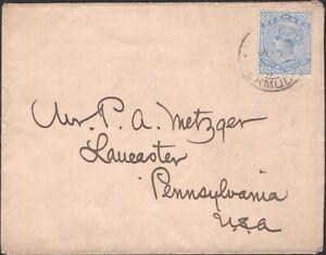 BERMUDA, 1898. Cover 20, Hamilton - Lancaster, PA