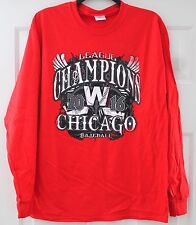 NWOT CHICAGO CUBS Long Sleeve T-Shirt World Series Champs Size M Medium Red