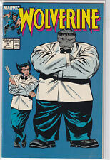 Wolverine #8 Classic Cover! Hulk! Wolverine Key Issue! 1989 Marvel