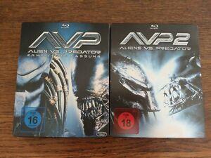 Alien VS Predator 1 + 2 blu ray steelbook comme neuf