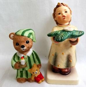 Bedtime Bear & Goebel Gentle Glow Figurines Statues Porcelain