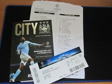 2015-15 Champions League Manchester City v Fc Dynamo Kyiv + Team Sheet,Ticket St