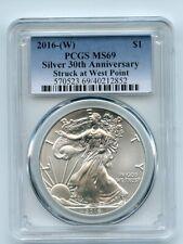 2016 (W) $1 American Silver Eagle 1oz Dollar PCGS MS69