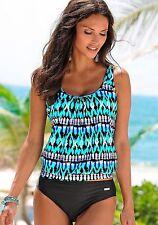 Lascana Oversized Tankini & Swim Briefs Swimwear Size 18 Uk BNWT Turquoise