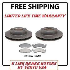 Brake Rotors & Metallic Pads for Ford Bronco 1976-1986 Front Set