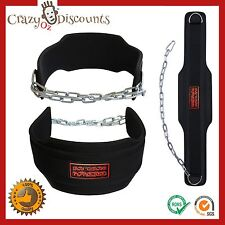 WEIGHT LIFTING DIPPING BELT DIP PRO BODY BUILDING CHAIN GYM PLATE TRAINING HEAVY