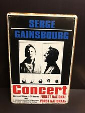 SERGE GAINSBOURG FOREST NATIONALConcert Poster Vintage Small Metal Sign 20x30 Cm
