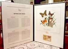 BUTTERFLIES OF AMERICA Stamp Set 1977 First Day Of Issue Fleetwood Portfolio