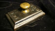 Antique Cast Iron & Bronze Advertising Paperweight marked B & B