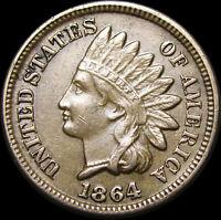 1864 Copper Nickel Indian Cent Penny ----- Copper Nickel Nice ----- #Z960