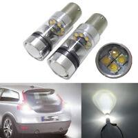 XBD 100W 1156 S25 P21W BA15S Aluminum LED Backup Light Car Reverse Bulb Lamp JP