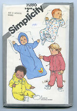 SEWING PATTERN SIMPLICITY #5286  BABY CLOTHES  SIZE 6 MONTHS UNCUT