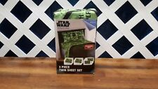 New in Box Disney Star Wars Rouge One Microfiber 3 Piece Twin Sheet Set Green