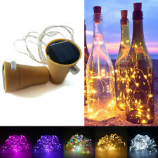 8/10/15/20 LED Solar Wine Bottle Cork Shaped String Fairy Lights Night Lamp Xmas