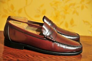 Carmina Shoemaker Burgundy Hand Sewn Penny Loafers Size UK9.5/US10.5 / Alden /