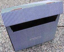 PapierTiger Karteikasten Streifen A6 Kartonage blau ( 15 Stück )