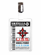 Resident Evil Umbrella Security Service U.S.S Vehicle Permit ID Badge Christmas