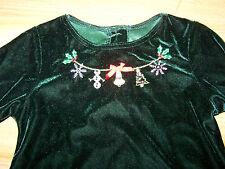 Girls Size 5 Sophie Rose Green Velour Christmas Holiday Dress Beaded Neckline