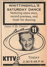 1958 KTTV tv ad ~ DON WHITTINGHILL'S SATURDAY DANCE in LOS ANGELES,CALIFORNIA