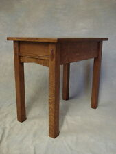 Mission Oak End Stand With Drawer and Choice Of Pull Free Shipping