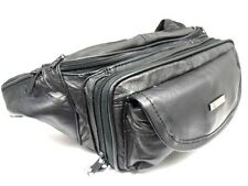NEW BLACK SUPER SOFT LEATHER LARGE SIZE BUM BAG MONEY BELT HOLIDAY TRAVEL WALLET