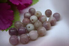 20 x NATURAL LAVENDER STONE beads, 8mm, round