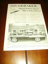 1956 Studebaker *Original Vintage Ad*
