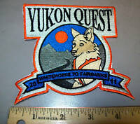 2011 Alaska Yukon Quest 1000 mile Dog Sled Race Embroidered Patch, dog team