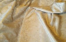 Cream crushed velvet throws 2.5m x 1.4m also red purple black silver & champagne