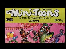 A&BC 1970 Mini-Toons Number 3 Carnival - Unrubbed Letraset Action Transfer