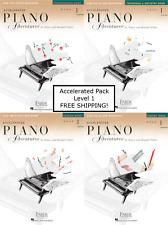 Faber Piano Adventures Older Beginner Accelerated Level 1 - Pack Set - 4 Books!